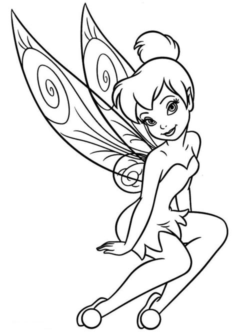 coloring book pages tinkerbell and print free tinkerbell coloring pages