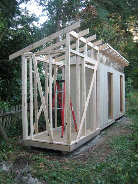 Shed Rafters by The Rat Shed Part 11 Framing Walls And Rafters Unit 3