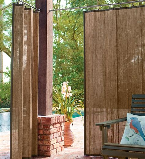 bamboo outdoor curtains 40 quot w x 63 quot l water resistant outdoor bamboo curtain panels