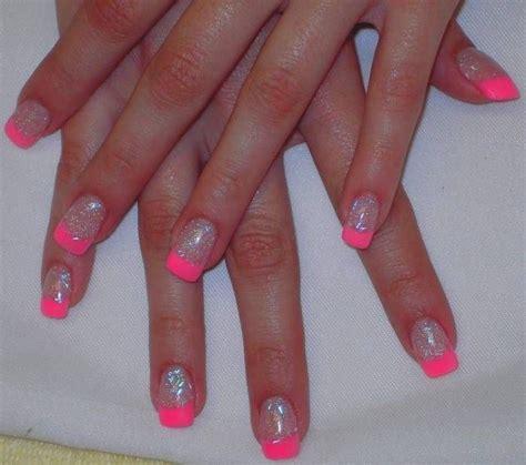 pink glitter acrylic nail designs glitter acrylic nails blue glitter acrylic and white