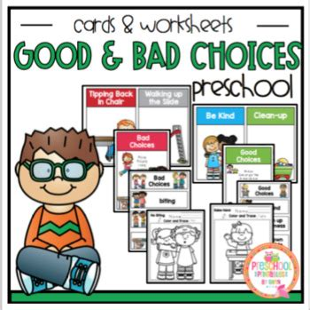 And Bad Choices Worksheet
