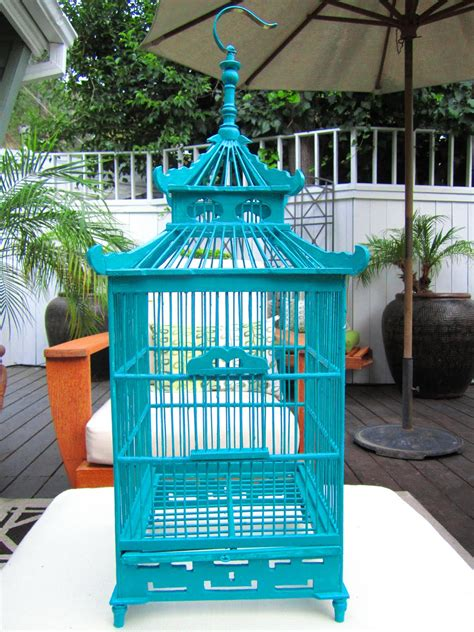 birdcage home decor red and shades of turq blue and aqua on pinterest
