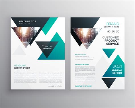 Modern Business Brochure Template Design Made With Triangle Shap Download Free Vector Art Template Design