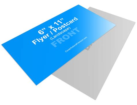 6 x 11 landscape flyer or postcard mock up cover actions