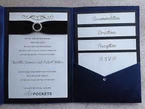 diy pocket invitations royal blue shimmer wedding invitations diy pocket