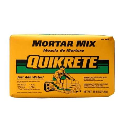 quikrete 60 lb mortar mix 110260 the home depot
