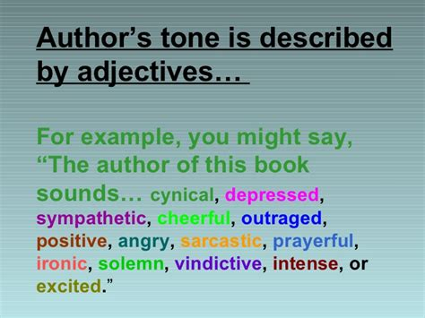 exle of tone tone in literature