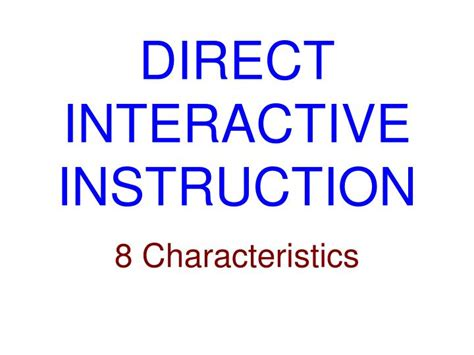ppt direct interactive instruction powerpoint