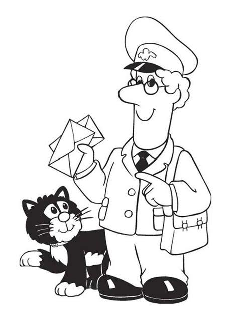 postman pat coloring pages az coloring pages