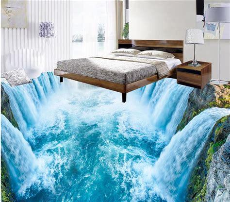 waterfall room aliexpress buy floor wallpaper 3d for bathrooms 3d waterfall kitchen living room floor