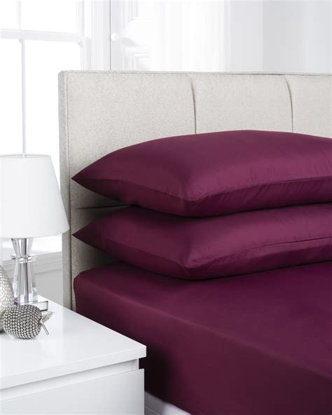 types of sheets for beds types of fitted sheets aubergine plain dye microfibre