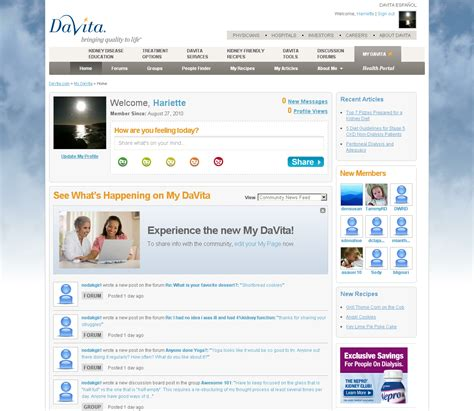 Davita Application Davita Launches Patient Health Portal