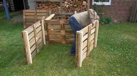 komposter aus holz selber bauen komposter aus europaletten selber bauen