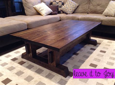 Diy Farmhouse Coffee Table For 60 Cad Leave It To Joy Diy Farmhouse Coffee Table