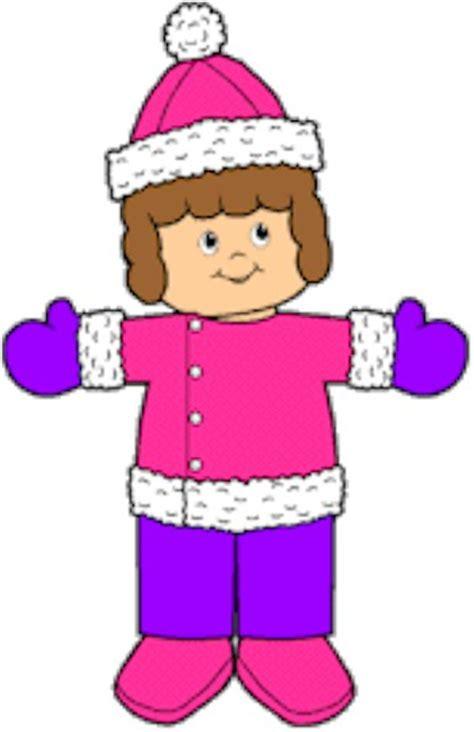 Paper Dolls Craft - winter playtime paper dolls
