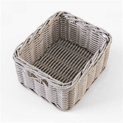 ikea wicker baskets wicker basket ikea byholma 1 brown 3d model cgstudio