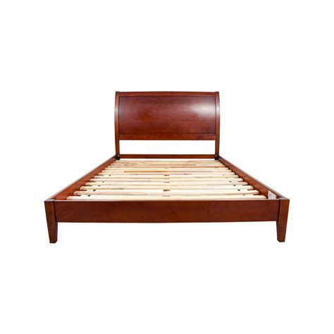 sleepys headboards bed frames sleepys sleepy s brown wool bed frame