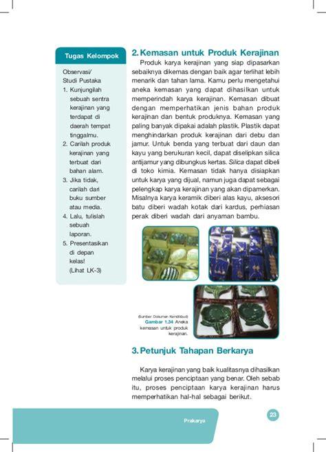 Bahan Kerajinan Manik Kayu Lorek Hitam Emas Hijau buku siswa prakarya kelas vii smp kurikulum 2013