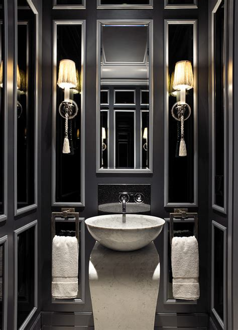 john david edison interior design inc black and white bathroom