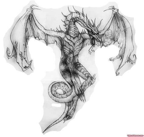 dragon wings tattoo designs beautiful grey ink open wings design