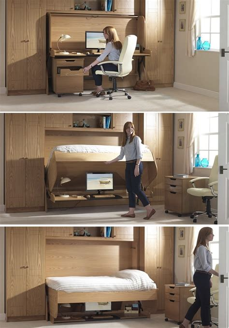 Space Saving Desk Bed | bed desk combos save space and add interest to small rooms