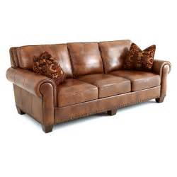 Leather Sofa Pillows Steve Silver Silverado Leather Sofa With 2 Accent Pillows Caramel Brown Sofas Loveseats At