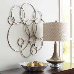 Silver Metal Wall Decor by Silver Circles Metal Wall Decor Pier 1 Imports