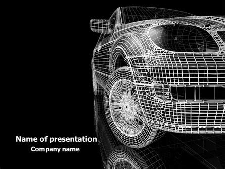 Car Modeling Powerpoint Template Backgrounds 08047 Poweredtemplate Com Automotive Powerpoint Templates Free