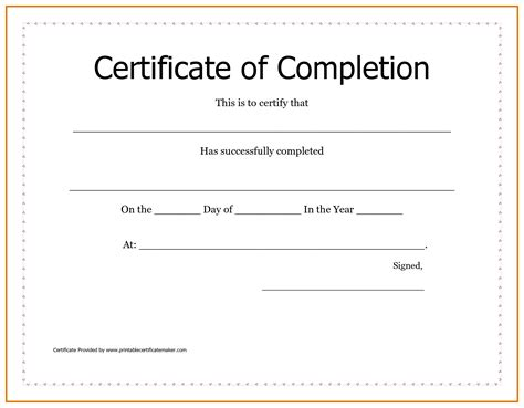 free certificate of completion template achievement certificate templates free mughals