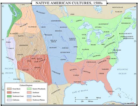 american cultural map american cultures 1500s map maps