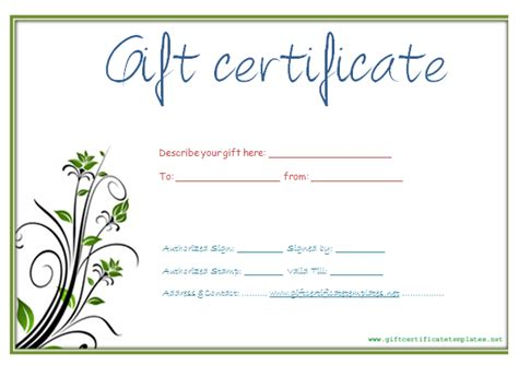 gift certificate templates free printable gse bookbinder co