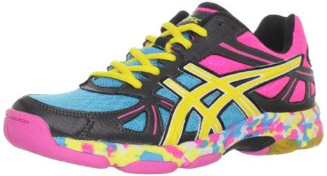 Sepatu Volly Fila asics s gel flashpoint shoe black neon