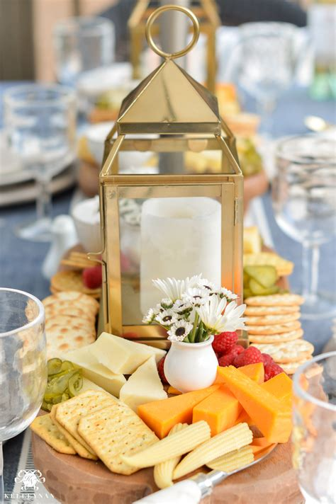 appetizers  cheese boards   centerpiece  outdoor dining kelley
