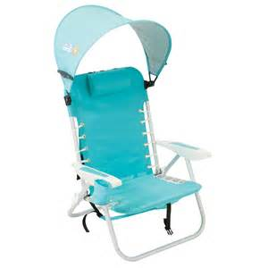 Backpack Beach Chair With Canopy by Rio Lace Up Backpack Beach Chair W Canopy Aqua Back
