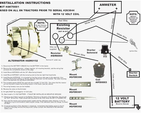 ford 8n alternator conversion diagram wiring diagram