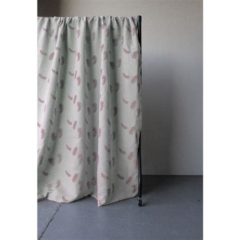 dusty pink curtains feathers dusty pink pink patterned linen mix oeko tex fabric