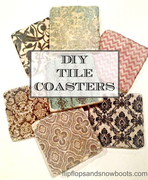 diy tile coasters make something mondays diy tile coasters dream design diy