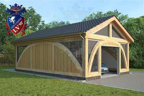 Log Garage Designs sunshine glulam insulated timber frame garage 5 5m x 9 0m