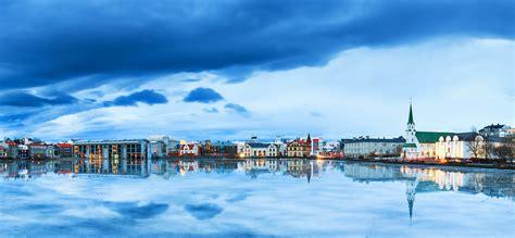 wallpaper reykjavik iceland river sky  nature