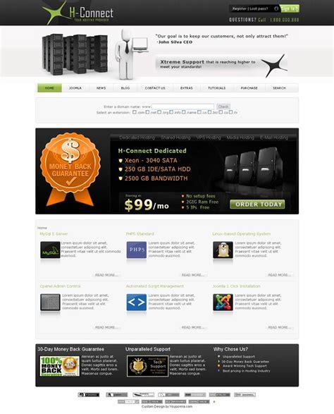 joomla hosting templates h connect premium joomla hosting template by youjoomla