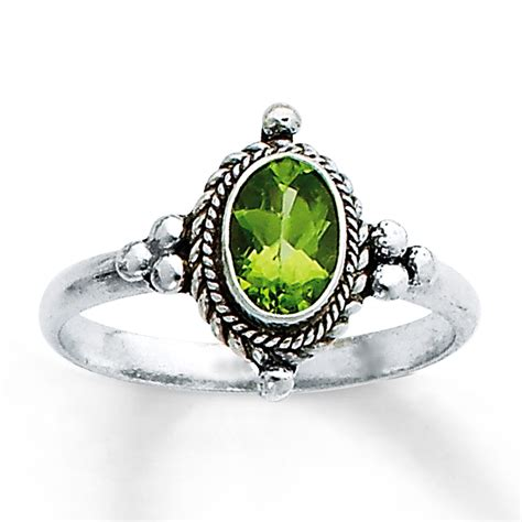 jared peridot ring sterling silver