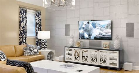 media room sound system media room with 3d tv and surround sound in wall and in