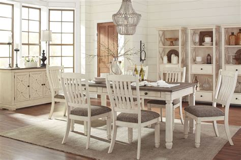 dining room set bolanburg white and gray rectangular dining room set from