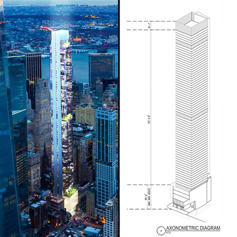 Floor Plans For Apartment Buildings by New York 125 Greenwich St 912 Ft 72 Floors Under