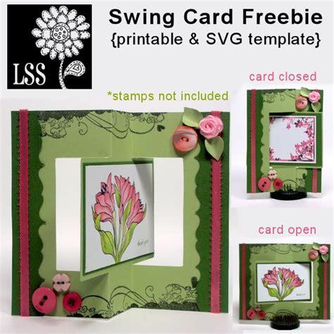 Swing Card Template by Freebie Swing Card Template Swing Card Swings And Template