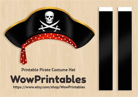 pirate costume hat printable download download easy to