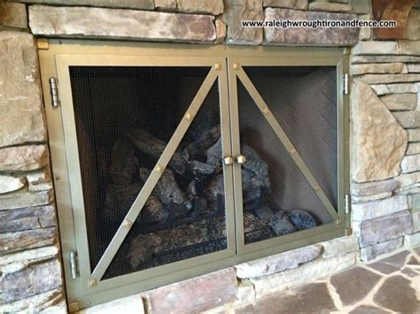 1000 ideas about wrought iron fireplace screen on