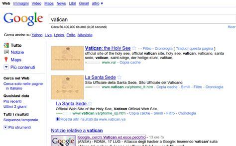 sito santa sede sotto attacco digitando vatican compare sito