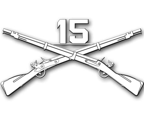 infantry crossed rifles clipart the cliparts