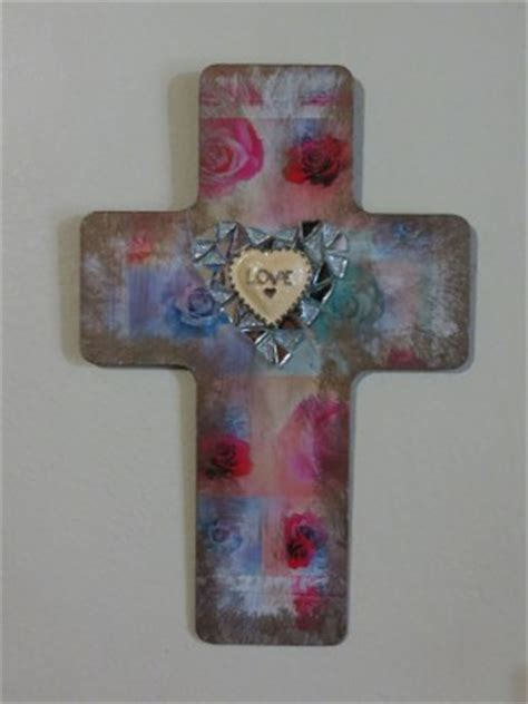 decoupage crosses decoupaged easter cross favecrafts